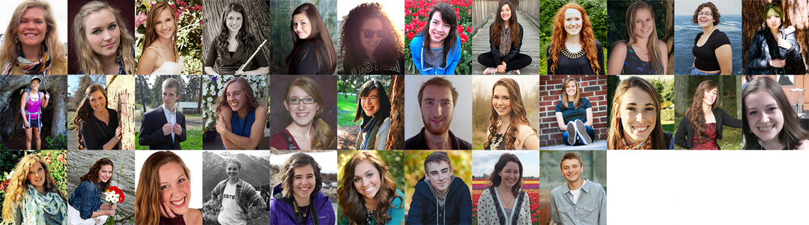 2015-16 WWU Student Scholarship Recipients