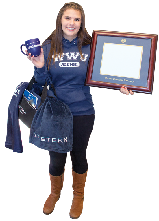 image of student with grad pack