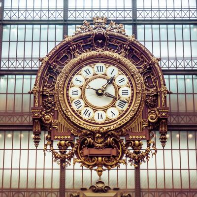 Photo taken of a large decorative wall clock