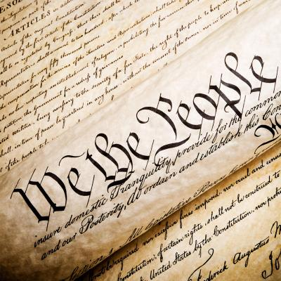 Picture of the US Constitution
