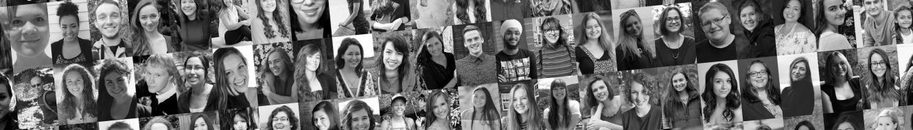 Photo collage of students who have received WWU scholarships